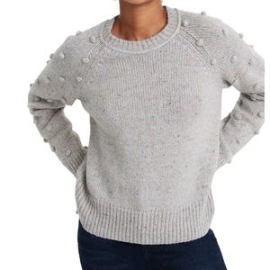 MADEWELL Janey Bobble Sleeve Pullover Sweater!